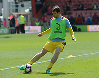 Burnley's Jon Flanagan during the pre-match warm-up <br /> <br /> Photographer Ian Cook/CameraSport<br /> <br /> The Premier League - Bournemouth v Burnley - Saturday 13th May 2017 - Vitality Stadium - Bournemouth<br /> <br /> World Copyright &copy; 2017 CameraSport. All rights reserved. 43 Linden Ave. Countesthorpe. Leicester. England. LE8 5PG - Tel: +44 (0) 116 277 4147 - admin@camerasport.com - www.camerasport.com