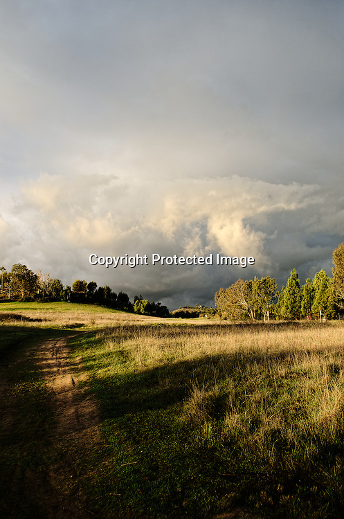 Stock photo of approaching storm clouds