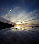 A coastal walk as the sun goes down, Totland, Isle of Wight.