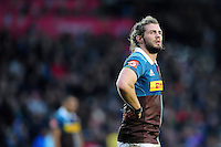 Luke Wallace of Harlequins looks on. Aviva Premiership match, between Harlequins and Sale Sharks on January 7, 2017 at the Twickenham Stoop in London, England. Photo by: Patrick Khachfe / JMP