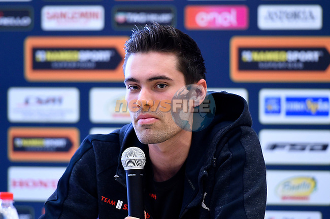 Tom Dumoulin (NED) Team Sunweb at the top riders press conference on the eve of the race of the two seas, 52nd Tirreno-Adriatico by NamedSport running from the 8th to 14th March, Italy. 7th March 2017.<br /> Picture: La Presse/Fabio Ferrari | Cyclefile<br /> <br /> <br /> All photos usage must carry mandatory copyright credit (&copy; Cyclefile | La Presse)