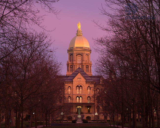 Dec. 10, 2015; Dome at sunrise (Photo by Matt Cashore/University of Notre Dame)