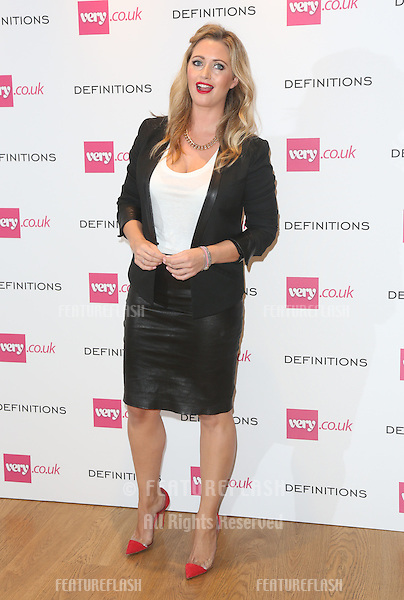 Hayley Macqueen at the Launch party for Very.co.uk introducing the new fashion brand Definitions at Somerset House<br /> London. 04/09/2013 Picture by: Henry Harris / Featureflash