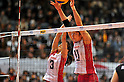 (L to R) Yoshie Takeshita (JPN), Erika Araki (JPN), NOVEMBER 17,2011 - Volleyball : FIVB Women's Volleyball World Cup 2011,4th Round Tokyo(A) during match between Japan 3-2 Germany at 1st Yoyogi Gymnasium, Tokyo, Japan. (Photo by Jun Tsukida/AFLO SPORT) [0003]