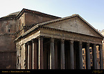 Pantheon exterior inscription Marcus Agrippa Hadrian 126 AD Campus Martius Rome