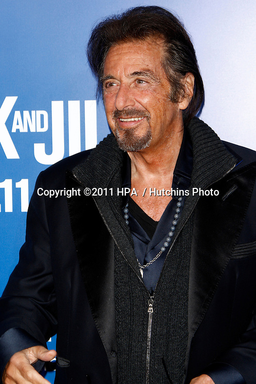 LOS ANGELES - NOV 6:  Al Pacino arrives at the Jack and Jill Premiere at Regency Village Theatre on November 6, 2011 in Westwood, CA