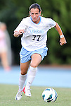 26 August 2012: UNC's Marina Nesic (SRB). The University of North Carolina Tar Heels defeated the University of Montreal Caribins 1-0 in overtime at Fetzer Field in Chapel Hill, North Carolina in an international women's collegiate friendly game.