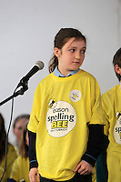 NO FEE PICTURES.8/3/12 Orla Doyle, St Anne's Shankill, taking part in the Dublin County final, part of the overall Eason 2012 Spelling Bee, held at St Olaf's NS, Dundrum. .For further details visit www.easons.com/spellingbee and stay tuned to RTE 2fm. Picture:Arthur Carron/Collins