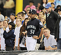 Kenta Imamura, ..AUGUST 2, 2011 - MLB :  Kenta Imamura, a Seattle Mariners'  Ichiro Suzuki impersonator is seen during the game betwenn theSeattle Mariners and the Oakland Athletics at Safeco Field in Seattle, Washington. USA. ..(Photo by AFLO)