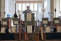 Salthouse, Norfolk, England, 09/08/2009..Medieval music in Saint Nicholas Church.