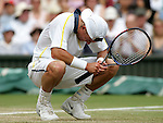 Tennis All England Championships Wimbledon Lleyton Hewitt (AUS) enttaeuscht.