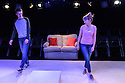 """London, UK. 06.07.2016. Damsel Productions presents, Soho Young Writer Award Winner, Phoebe Eclair-Powell's play """"Fury"""" at Soho Theatre. Directed by Hannah Bauer-King, with set design by Anna Reid, and lighting design by Natasha Chivers. Picture shows: Alex Austin (Tom), Sarah Ridgeway (Sam). Photograph © Jane Hobson."""