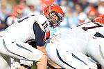 24 October 2015: Virginia quarterback Matt Johns (15). The University of North Carolina Tar Heels hosted the University of Virginia Cavaliers at Kenan Memorial Stadium in Chapel Hill, North Carolina in a 2015 NCAA Division I College Football game. UNC won the game 26-13.