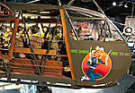 "Waco CG-4A Hadrian Glider fuselage and nose art at Cradle of Aviation Museum ""One Down One to Go"""