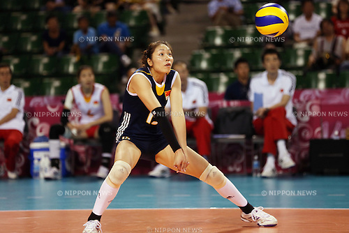 Chen Zhan (CHN),<br /> AUGUST 24, 2014 - Volleyball : FIVB World Grand Prix 2014 final round match between China 2-3 Russia at  Ariake Coliseum, Tokyo, Japan. (Photo by AFLO SPORT)