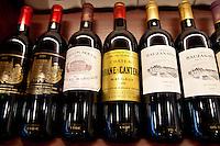 Pavillon Rouge from Chateau Margaux, Chateau Brane-Cantenac, Chateau Rauzan-Sega, Chateau Clos Fourtet, Chateau Beau-Sejour Becot Chateau Palmer Medoc at Vignobles et Chateaux wine merchant in St Emilion, Bordeaux, France