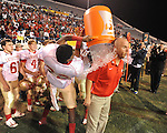 Lafayette High vs. Laurel in the MHSAA Class 4A championship game at Mississippi Veterans Memorial Stadium in Jackson, Miss. on Saturday, December 3, 2011. Lafayette won 39-29, the team's 32 straight win, to capture their second consecutive state championship.