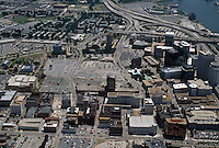1996 June 28..Redevelopment..Macarthur Center.Downtown North (R-8)..CLOSEUP LOOKING EAST.BOUSH STREET IN FRONT...NEG#.NRHA#..