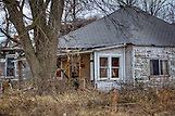 Ghost Town, Oklahoma, Old buildings, Picher, Ruins, United States, Winter