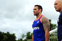 Kahn Fotuali'i of Bath Rugby looks on. Bath Rugby pre-season skills training on June 21, 2016 at Farleigh House in Bath, England. Photo by: Patrick Khachfe / Onside Images