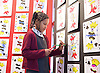 Southbank Centre's Imagine Children's Festival <br /> at the Royal Festival Hall, Southbank, London, Great Britain <br /> 13th February 2015 <br /> <br /> <br /> Playing Card Art <br /> <br /> Emilie aged 9 from herbert Morrison school <br /> <br /> Photograph by Elliott Franks <br /> Image licensed to Elliott Franks Photography Services
