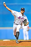 28 February 2011: New York Mets pitcher D.J. Carrasco on the mound against the Washington Nationals at Digital Domain Park in Port St. Lucie, Florida. The Nationals defeated the Mets 9-3 in Grapefruit League action. Mandatory Credit: Ed Wolfstein Photo