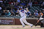 CHICAGO - APRIL  05:  Starlin Castro #13 of the Chicago Cubs bats against the Arizona Diamondbacks on April 5, 2011 at Wrigley Field in Chicago, Illinois.  The Cubs defeated the Diamondbacks 6-5.  (Photo by Ron Vesely) Subject: Starlin Castro..