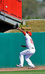12 March 2011: Washington Nationals' outfielder Destin Hood makes a play during a Spring Training game against the New York Yankees at Space Coast Stadium in Viera, Florida. The Nationals edged out the Yankees 6-5 in Grapefruit League action. Mandatory Credit: Ed Wolfstein Photo