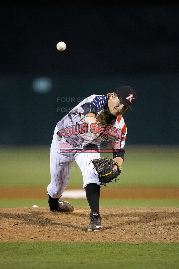 at Kannapolis Intimidators Stadium on April 7, 2017 in Kannapolis, North Carolina.  The BlueClaws defeated the Intimidators 6-4.  (Brian Westerholt/Four Seam Images)