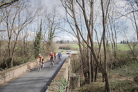 Team Boels-Dolmans (Women Elite) during the 2017 Strade Bianche recon (the day before the race)