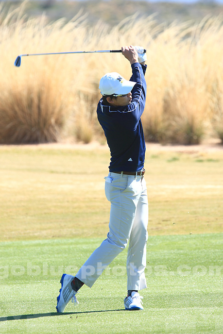 The University of Michigan men's golf team compete at the 2015 Desert Mountain Intercollegiate at the Desert Mountain Golf Club, Scottsdale, AZ. March 6, 2015