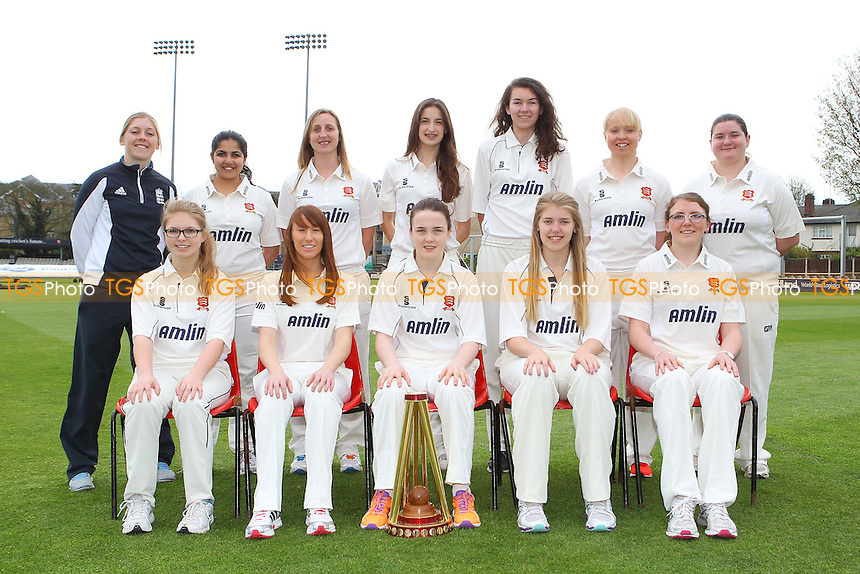 Essex CCC Women 1st XI Team Photo with Heather Knight - Essex CCC Women & Girls Press Day at the Essex County Ground, Chelmsford - 11/04/14 - MANDATORY CREDIT: Gavin Ellis/TGSPHOTO - Self billing applies where appropriate - 0845 094 6026 - contact@tgsphoto.co.uk - NO UNPAID USE