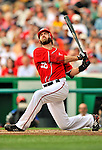 19 June 2011: Washington Nationals' outfielder Jayson Werth in action against the Baltimore Orioles at Nationals Park in Washington, District of Columbia. The Orioles defeated the Nationals 7-4 in inter-league play, ending Washington's 8-game winning streak. Mandatory Credit: Ed Wolfstein Photo