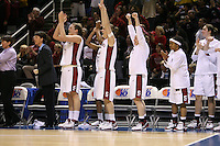5 March 2007: Jayne Appel, Melanie Murphy, Michelle Harrison, Clare Bodensteiner, Markisha Coleman, and Morgan Clyburn during Stanford's 62-55 win over ASU in the finals of the women's Pac-10 tournament championship at HP Pavilion in San Jose, CA.
