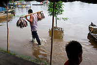 Flooded Fish Market - Puerto Narino - Amazonas - Colombia