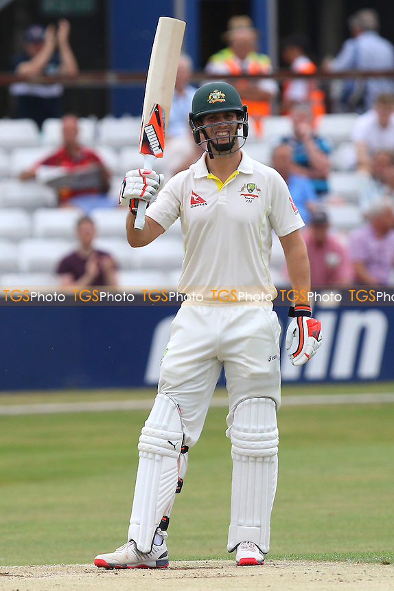 Mitchell Marsh celebrates scoring 150 runs  for Australia - Essex CCC vs Australia - Tourist Match ahead of the 2015 Ashes Series at the Essex County Ground, Chelmsford, Essex - 02/07/15 - MANDATORY CREDIT: Gavin Ellis/TGSPHOTO
