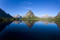 Sunrise at Swiftcurrent Lake, Many Glaciers, Montana