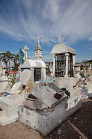 Mexican Cemetery 7 - Photograph taken in El Panteón Cementario, also know as Cementario Viejo or old cemetery, in Puerto Vallarta, Mexico.