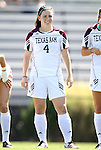 11 September 2011: Texas A&M's Meghan Streight. The Texas A&M Aggies defeated the University of North Carolina Tar Heels 4-3 in overtime at Koskinen Stadium in Durham, North Carolina in an NCAA Division I Women's Soccer game.