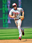 30 May 2011: Philadelphia Phillies second baseman Chase Utley in action against the Washington Nationals at Nationals Park in Washington, District of Columbia. The Phillies defeated the Nationals 5-4 to take the first game of their 3-game series. Mandatory Credit: Ed Wolfstein Photo