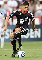 Pablo Hernandez #21 of D.C. United during an MLS match against the Los Angeles Galaxy at RFK Stadium on July 18 2010, in Washington D.C. Galaxy won 2-1.