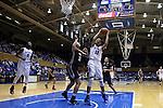 29 January 2015: Duke's Azura Stevens (11) and Pitt's Stasha Carey (35). The Duke University Blue Devils hosted the University of Pittsburgh Panthers at Cameron Indoor Stadium in Durham, North Carolina in a 2014-15 NCAA Division I Women's Basketball game. Duke won the game 62-45.
