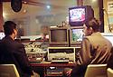 Irak 2000.Studio de television.  Iraq 2000.TV's studio