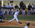 Ole Miss' Matt Snyder (33) bats at Oxford-University Stadium in Oxford, Miss. on Friday, April 15, 2011. Ole Miss won 3-2.