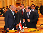 Egyptian President Abdel Fattah al-Sisi poses for a photo during the Arab American Islamic summit in the Saudi capital Riyadh on May 21, 2017. Photo by Egyptian President Office