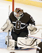 Katie Jamieson (Brown - 25) makes one of her 24 saves on 28 shots during her two periods of play. - The Boston College Eagles defeated the visiting Brown University Bears 5-2 on Sunday, October 24, 2010, at Conte Forum in Chestnut Hill, Massachusetts.