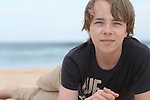 Young actor Ed Oxenbould at Sydney's Bondi Beach. Ed's breakthrough role was for the Australian film Paper Planes. Sydney, Australia. Wednesday, 15th April 2015 (Photo: Steve Christo)