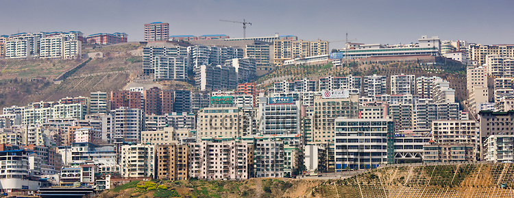 New town built to re-home Chinese communities as part of Three Gorges dam project, Yangze River, China