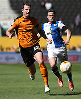 Wolverhampton Wanderers' Michael Williamson and Blackburn Rovers' Craig Conway in action during todays match<br /> <br /> Photographer Rachel Holborn/CameraSport<br /> <br /> The EFL Sky Bet Championship - Wolverhampton Wanderers v Blackburn Rovers - Saturday 22nd April 2017 - Molineux - Wolverhampton<br /> <br /> World Copyright &copy; 2017 CameraSport. All rights reserved. 43 Linden Ave. Countesthorpe. Leicester. England. LE8 5PG - Tel: +44 (0) 116 277 4147 - admin@camerasport.com - www.camerasport.com