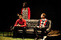 """18/05/2011.  """"Mad Blud"""" opens at Theatre Royal Stratford East. A new work exploring the reality behind the headlines of knife crime. L to R: Divian Ladwa, Anna-Maria Nabirye and Cary Crankson. Photo credit should read Jane Hobson"""